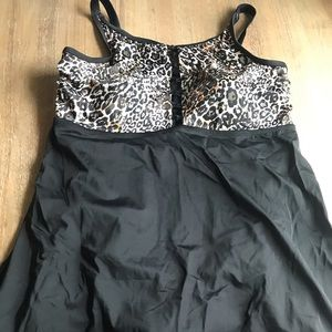 NWT size 22 leopard print swim dress